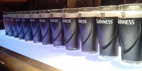 Row of Guiness Glasses